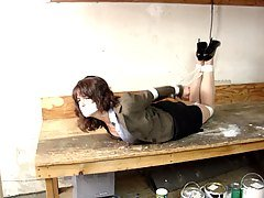 MISS SANTOS HOGTIED & GAGGED