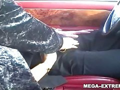Public outdoor sex in car by pri...