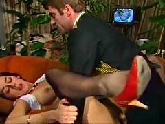 Hairy Vintage Pussy Fucked And C...