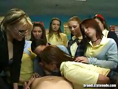 Schoolgirls get Hands On