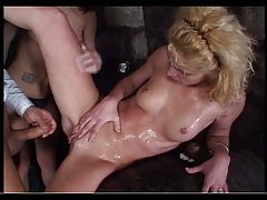 Pool group sex with amazing pissing