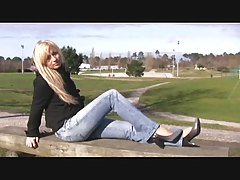 blond teen first video casting p...