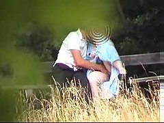 amateur sex on park bench