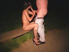 Hot wife gets horny in a park