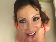 Ava Devine gives a hand wank and...