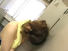 japanese girl humps door