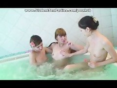 Student Sex Party in Sauna - les...