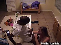 Unfaithful girlfriend gets caught