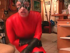 catwoman red leather