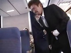 JPN Stewardess Gives  a Handjob ...