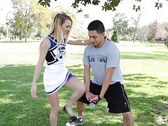 Extra Small Cheerleader Fucks BW...