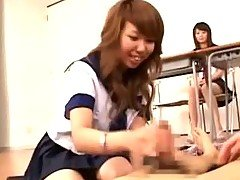 Cute asian teens classroom cock ...