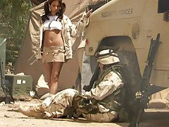 Army babe Kirsten Price slides h...