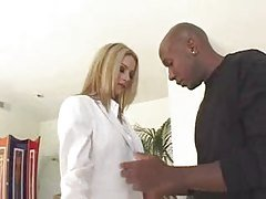 Blonde white business woman with...