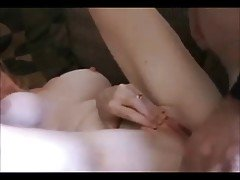 Amateur redhead wife creampied