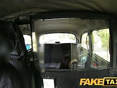 FakeTaxi Young horny girl in bac...