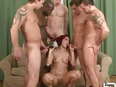 Slutty redhead gets an interraci...