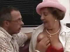 Crazy Brunette Grandma Fucked on...