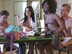 Strip Poker ends in a orgy with ...