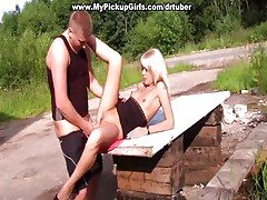 Russian Blonde Girl Tricked Into...