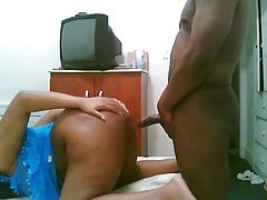 amateur ebony doggy