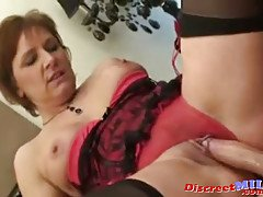 Kinky British cougar gets fucked...